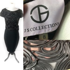 New with Tags JS Collections Black cocktail dress